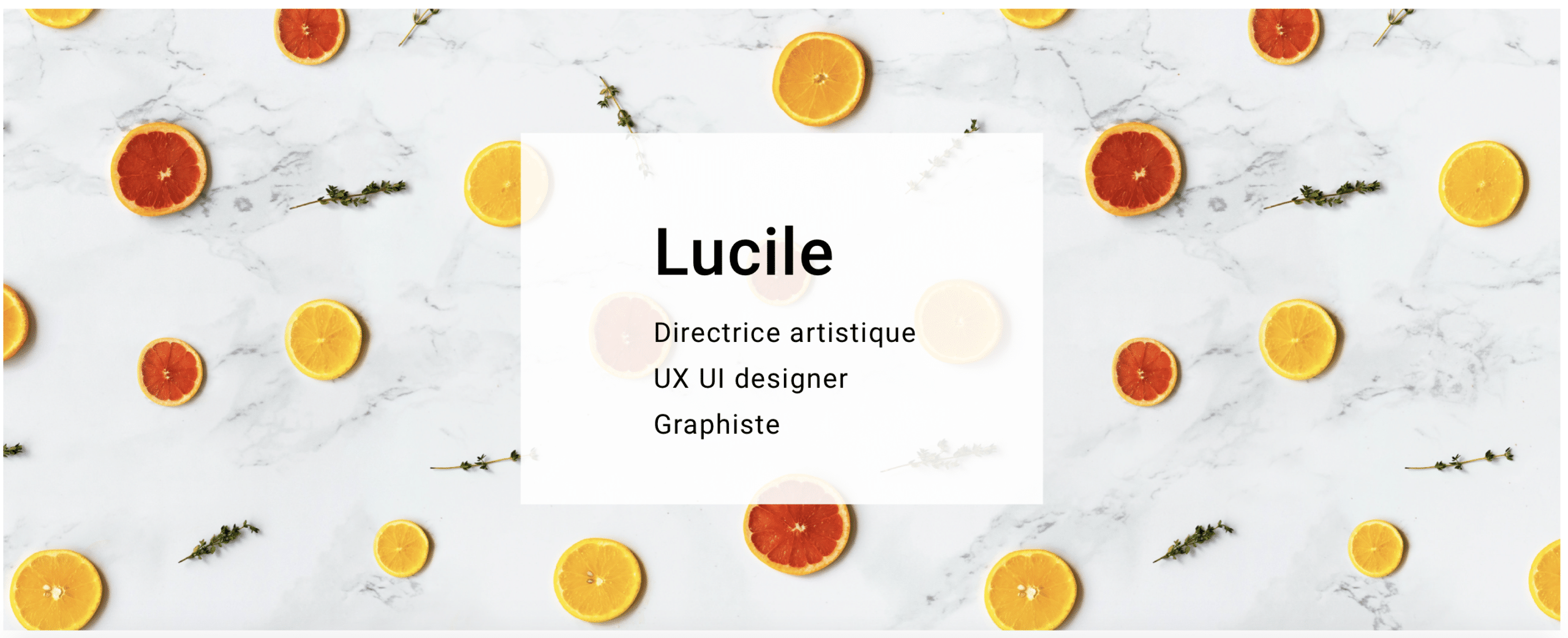 LucileEscaffre - Directrice artistique - UX UI Designer - Graphiste